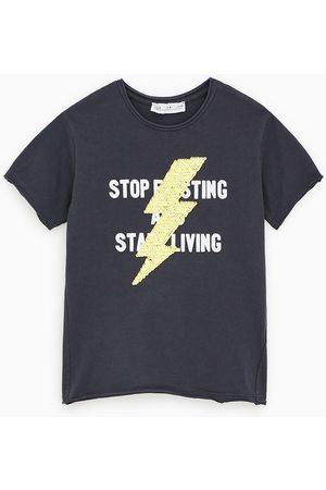 Zara Shirt mit blitz aus pailletten
