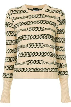 CHANEL Damen Pullover - Pullover mit Intarsien-Kettenmuster