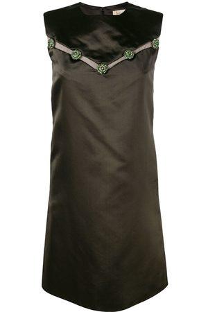 Dior Damen Freizeitkleider - 1960s pre-owned kurzes Seidenkleid mit Schmucksteinapplikation