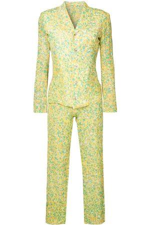 Yohji Yamamoto Pre-Owned Anzug mit abstraktem Print