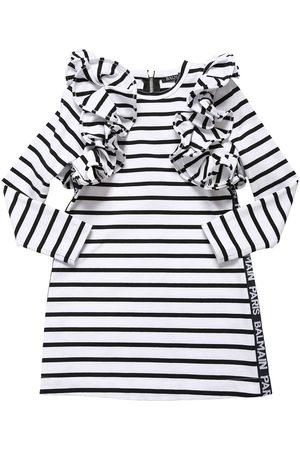 Balmain Kleid Aus Interlock Mit Streifen