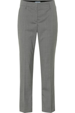Prada Cropped-Hose aus Wolle