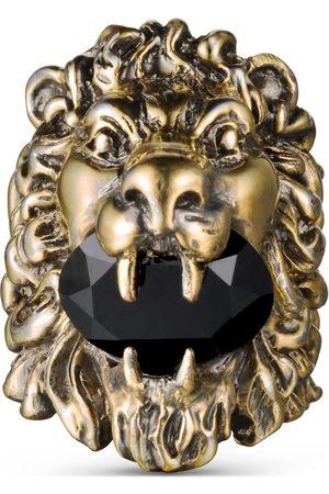Gucci Damen Ringe - Ring mit Löwenkopf mit Swarovski-Kristall
