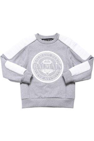 Balmain Sweatshirt Aus Baumwolle Mit Logo