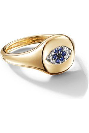 David Yurman 18kt 'Cable Collectibles' Gelbgoldring mit Diamanten