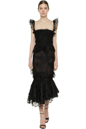BROCK COLLECTION Ruffled Lace Midi Dress