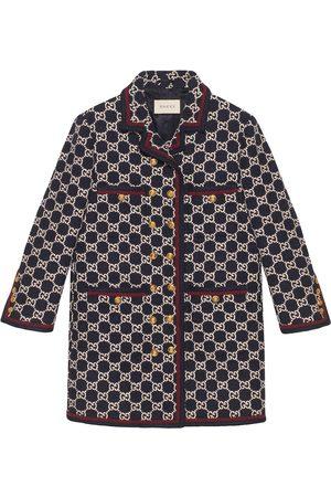 Gucci Tweed-Mantel mit GG-Muster