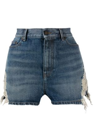 Saint Laurent Jeansshorts im Distressed-Look