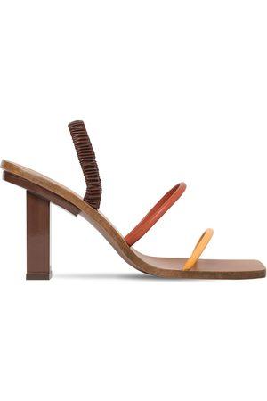 """Cult Gaia 70mm Hohe Sandaletten Aus Leder """"kaia"""""""