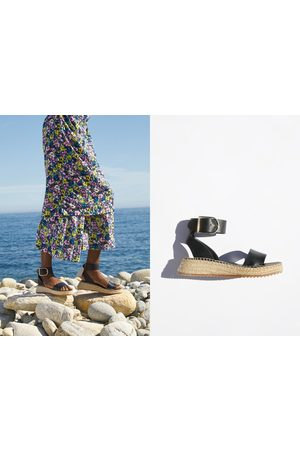 Zara Damen Sandalen - Plateau-sandalette mit knöchelriemchen