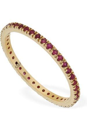 VANZI Annagreta Thin 18kt Gold & Ruby Ring