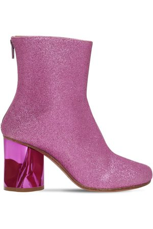 Maison Margiela 80mm Glittered Sock Ankle Boots