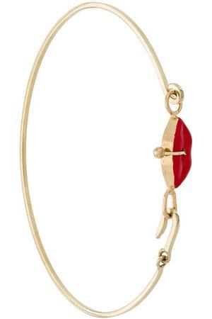 Delfina Delettrez Damen Armbänder - 9kt 'Grandma Lips' Gelbgoldarmreif