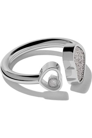 Chopard 18kt 'Happy Hearts' Weißgoldring mit Diamanten