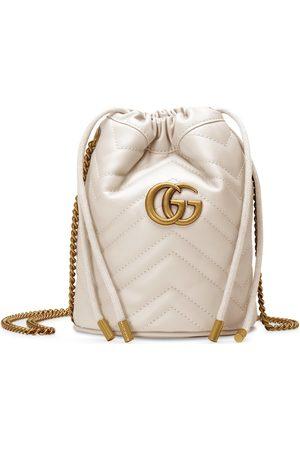 Gucci Damen Umhängetaschen - GG Marmont Mini-Bucket Bag