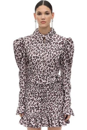 MARIANNA SENCHINA Leopard Print Taffeta Shirt