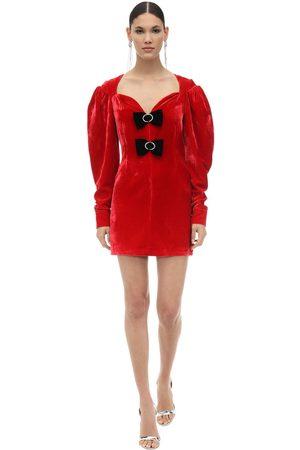MARIANNA SENCHINA Embellished Velvet Mini Dress
