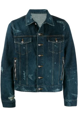 Balmain Jeansjacke in Distressed-Optik