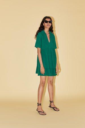 Zara Minikleid mit ziernähten