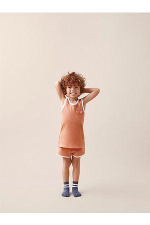 Zara Schlafanzüge - Pyjama mit rippenmuster und etikett