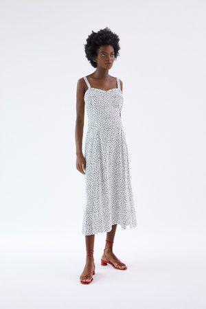 Zara Damen Kleider - Kleid mit tupfen