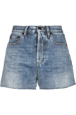 Saint Laurent Damen Shorts - DENIM - Jeansshorts