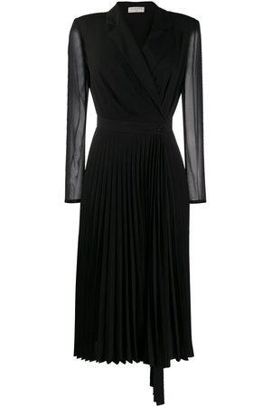 Sandro Langärmeliges Kleid mit V-Ausschnitt