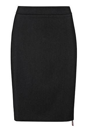 HUGO BOSS Rock aus leicht gekämmter Stretch-Schurwolle