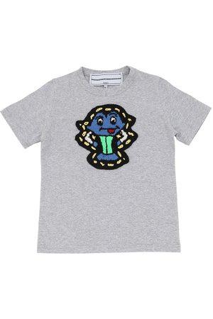 MICHAELA BUERGER Jungen T-Shirts, Polos & Longsleeves - Cotton Jersey T-shirt W/ Knit Patch