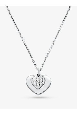 Michael Kors Halskette Aus Sterlingsilber Mit Edelmetallbeschichtung Und Pave-Herzanhänger