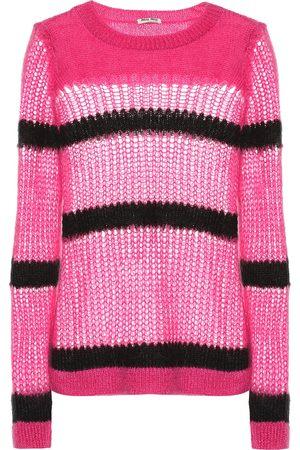 Miu Miu Damen T-Shirts, Polos & Longsleeves - Pullover aus einem Mohairgemisch