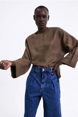 Zara Oversize-oberteil aus leinen