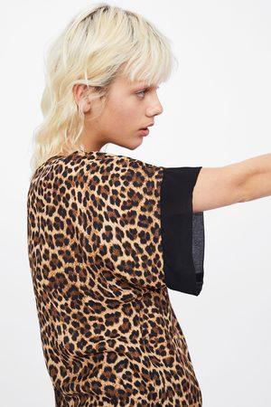 Zara Bluse mit animalprint