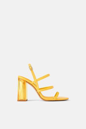 Zara Sandalette mit breitem plexiglas-absatz