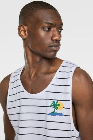 Zara Pikee-t-shirt mit streifen