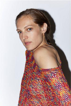 Zara Damen Pullover - Farbiger pullover mit strukturmuster