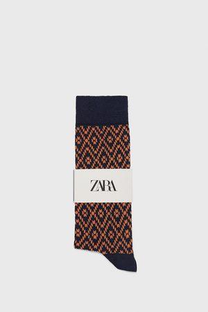 Zara Merzerisierte socken mit geometrischem muster