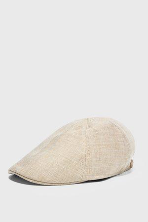 Zara Herren Caps - Baseballcap aus leinen mit strukturmuster