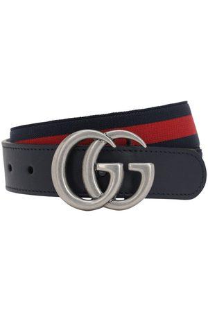 Gucci Elastischer Gürtel Mit Lederdetails
