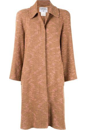 CHANEL Zweifarbiger Tweed-Mantel