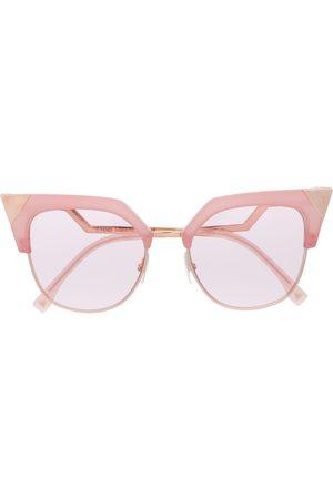 Fendi Kantige Cat-Eye-Sonnenbrille