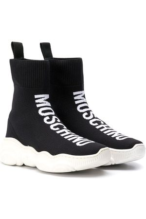 Moschino Kids High-Top-Sneakers mit Logo