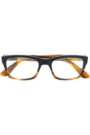 MASUNAGA Brille mit eckigem Gestell