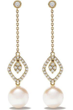 Yoko London Damen Ohrringe - 18kt 'Trend' Goldohrringe mit Diamanten