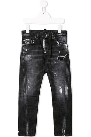 Dsquared2 Kids Schmale Distressed-Jeans