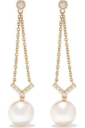 Yoko London Damen Ohrringe - 18kt 'Trend' Goldhängeohrringe