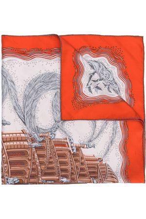 Hermès 1990s pre-owned Schal mit Gebäude-Print