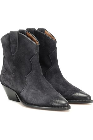 Isabel Marant Damen Stiefeletten - Ankle Boots Dewina aus Veloursleder