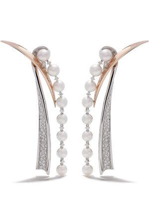Tasaki 18kt Weißgoldohrringe mit Diamanten