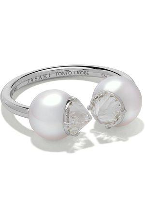 Tasaki Ring mit Diamanten und Perlen